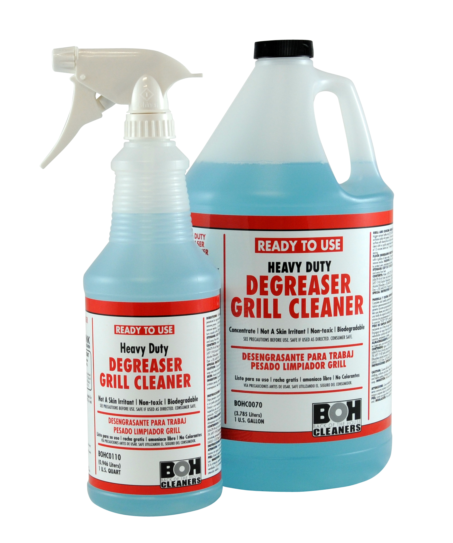 Heavy Duty Degreaser Grill Cleaner – Gallon – Back of the